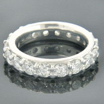 Thin 18K Gold Round Diamond Eternity Band Ring 2.75ct