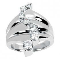 18K Gold Round Diamond Ladies Ring 0.50ct