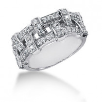 18K Gold Round Diamond Ladies Ring 0.52ct