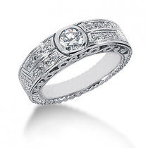 18K Gold Round Diamond Ladies Ring 0.57ct