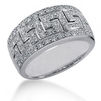 18K Gold Round Diamond Ladies Ring 0.74ct