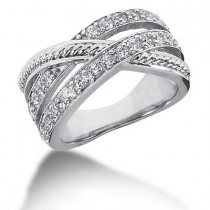 18K Gold Round Diamond Ladies Ring 0.75ct
