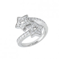 Thin 18K Gold Round Diamond Ladies Ring 0.85ct