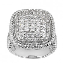 18K Gold Round Diamond Ladies Ring 1.22ct