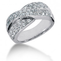 18K Gold Round Diamond Ladies Ring 1.30ct