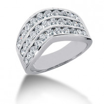 18K Gold Round Diamond Ladies Ring 1.32ct