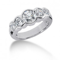 18K Gold Round Diamond Ladies Ring 1.50ct