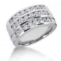 18K Gold Round Diamond Ladies Ring 1.68ct