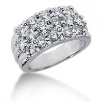 18K Gold Round Diamond Ladies Ring 1.92ct