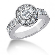 18K Gold Round Diamond Ladies Ring 1.95ct