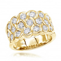 18K Gold Round Diamond Ladies Ring 2.02ct