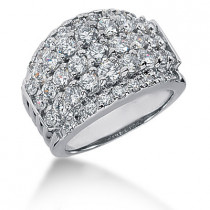 18K Gold Round Diamond Ladies Ring 2.25ct