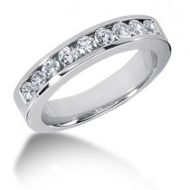 18K Gold Round Diamond Men's Wedding Ring 0.45ct