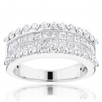 18K Gold Round Princess Diamond Band 2.28ct