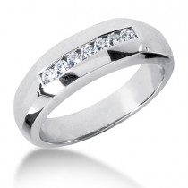 18K Gold Women's Diamond Wedding Ring 0.25ct