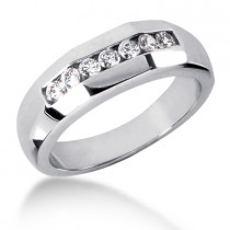 18K Gold Women's Diamond Wedding Ring 0.49ct