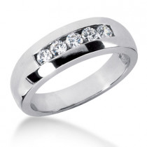 18K Gold Women's Diamond Wedding Ring 0.50ct