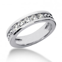 18K Gold Women's Diamond Wedding Ring 0.60ct