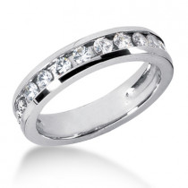18K Gold Women's Diamond Wedding Ring 0.90ct