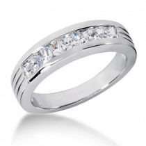 18K Gold Women's Diamond Wedding Ring 1.40ct