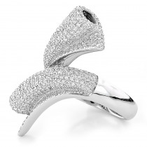 18k White Gold Ladies Diamond Ring 3.25ct