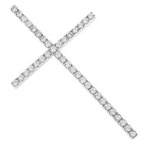 1ct Large Diamond Cross Pendant White Gold Yellow Gold or Rose Gold
