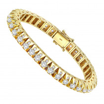 15 Carat Unique Diamond Tennis Bracelet for Men in 14k Gold By Luxurman