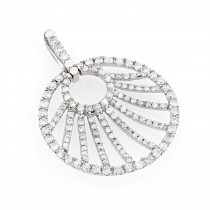 3D Diamond Circle Pendant 1.32ct 14K Gold