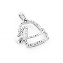 Mini Diamond Pendants: Diamond Santa Hat Charm 10K 0.13ct