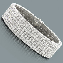 7 Row Diamond Bracelet for Men 1.50ct Sterling Silver