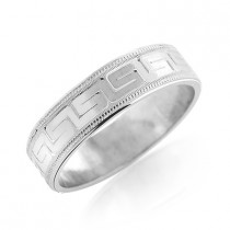 Adorned Wedding Band for Men 14K Gold