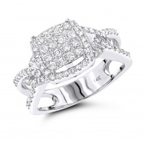 Affordable Diamond Engagement Ring 14K 0.75ct