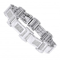 Affordable Mens Diamond Bracelet in Sterling Silver 0.5ct
