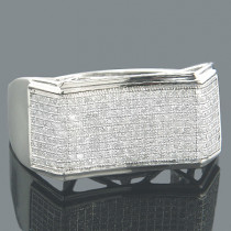 Affordable Mens Rings 10K Gold Diamond Ring 0.67ct