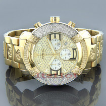 Aqua Master Mens Diamond Watch Round Yellow