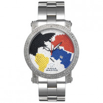 Aqua Master Mens Watches Worldmap Diamond Watch 2.25