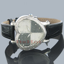 Aqua Master Watches Heart Shape Floating Diamond Watch