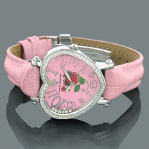 Aqua Master Watches Ladies Diamond Heart Watch 0.30ct