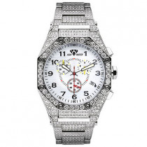 Aqua Master Watches Mens Diamond Bracelet Watch 17.65