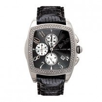 Aqua Master Watches Mens Diamond Watch 1.50ct Black