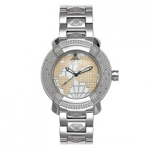 Aqua Master Watches Mens Diamond Watch WorldMap Dial