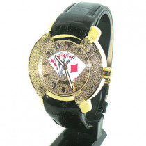 Aqua Master Watches Vegas Poker Mens Diamond Watch