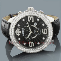 Arctica Watches Mens Diamond Watch 6.25ct Black