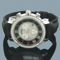 Benny Co Diamond Dial Watch 2.6ct Mens Black