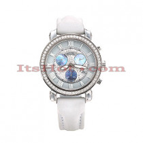 Benny Co Diamond Dial Watch 2.6ct Mens White