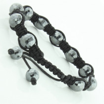 Black Bead Disco Ball Bracelet: Small Size