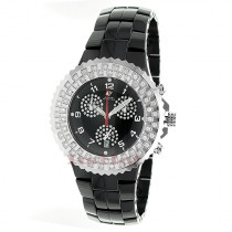 Black Ceramic Watches Aqua Master Diamond Watch 1.25ct