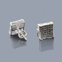 Black Diamond Earrings 0.53ct Sterling Silver