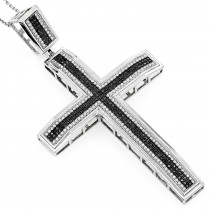 Black Diamond Jewelry: Diamond Cross Pendant 1.39ct 10K Gold