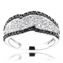 Black Diamond Rings: Womens Band 14K 0.80ct